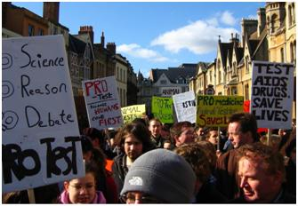 February 2006 - The first ProTest demonstration