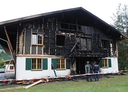 August 2009 - Animal Rights Extremists in arson against Novartis executive's holiday home