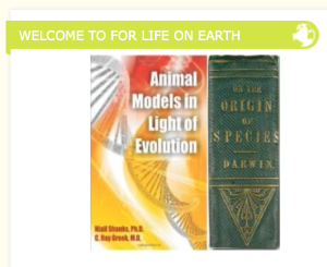 "The FLOE web site shows Greek's book next to Darwin's ""On the Origin of Species.""  One if science, they other is not.  Can you tell which one is which?"