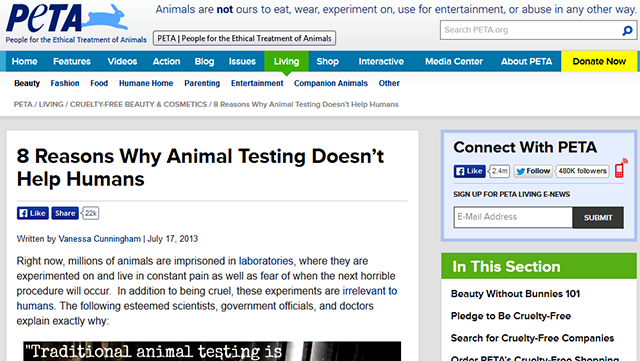 In my opinion,animal testing is wrong! I need your opinions,people! :)?