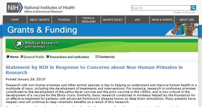 nih statement 01.28.15