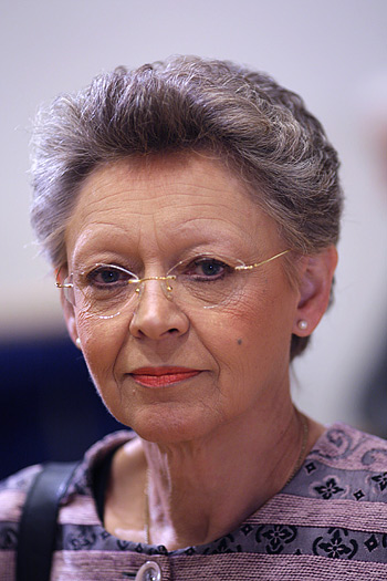 Francoise Barré - Sinoussi, undoubted star of the EU parliament hearing.