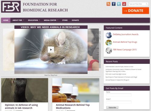 Foundatioin for Biomedical Research website