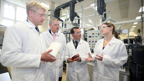 Jo Johnson MP tours Cardiff University