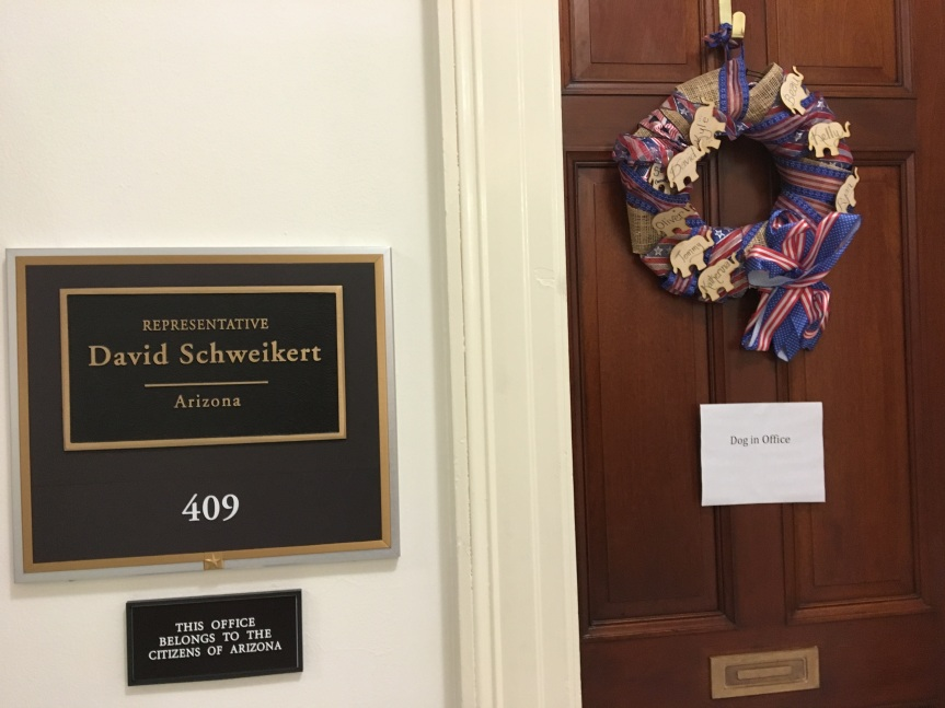 Rep. David Schweikert's (R-AZ) dog-friendly office on Capitol Hill