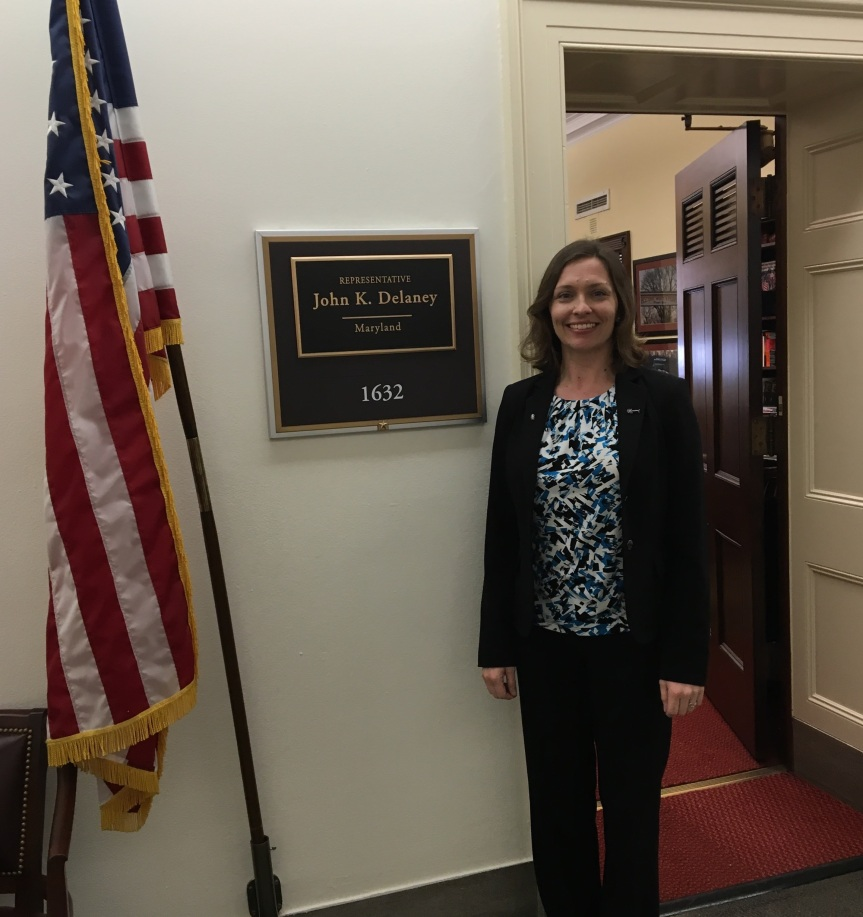 Me outside the office of my Representative, John Delaney (D-MD)