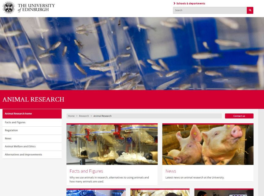 http://www.ed.ac.uk/research/animal-research - 16th March 2016