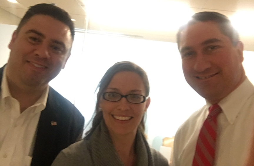 Dr. Dettmer, middle, with Matt Bailey (L), Executive Vice President,  and Mike Dingell (R), Director of Public Policy at NABR.