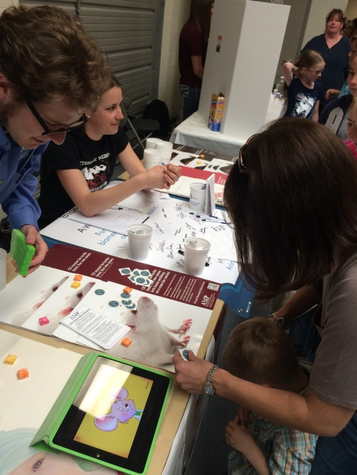 Students and parents enjoyed the interactive booth and games at Washington State University's Veterinary School Open House