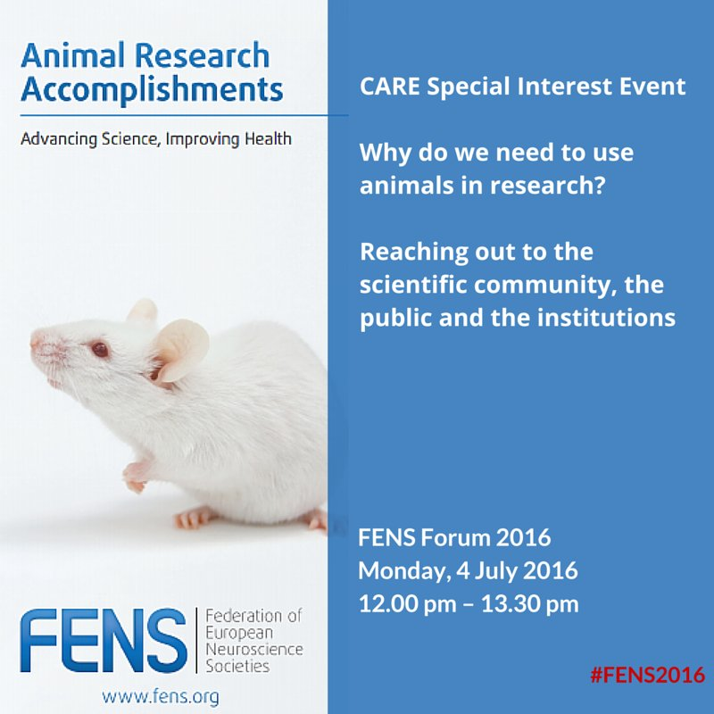 FENS Why do we need to use animals in research