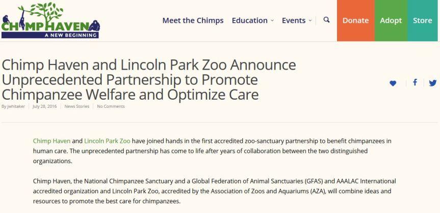 Chimp Haven LPZ announcement