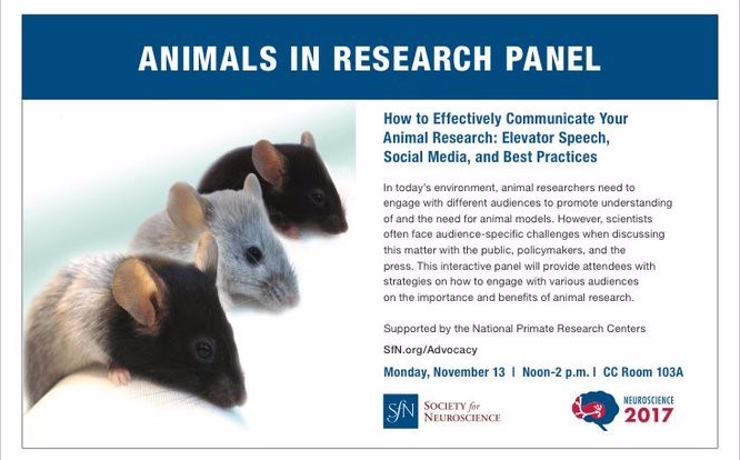 SFN animals in research panel
